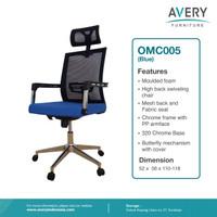 Avery Furniture - Kursi Kantor / Kursi Putar / Kursi Office OMC005 - Biru
