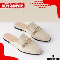 Sandal Flat Zara Wanita Original Branded Store NG235 - Withe, 35