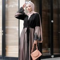 Abaya dubai nahla gamis arab abaya hitam