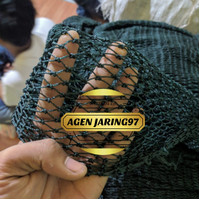 Jaring keramba ikan 1inch, bahan jaring PE ukuran bisa Custom
