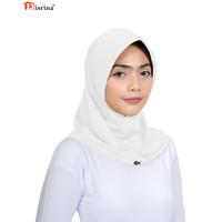 Nisrina Fashion Muslim Bergo Instan Pet Lebar Antem Gadis Tita - Putih