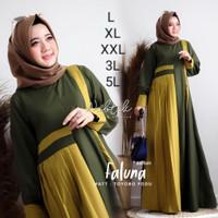 gamis syari ukuran jumbo XL XXL XXXL sampe 5L baju muslim wanita