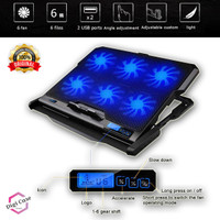 ICE COOREL Cooling Pad / Cooler Pad Laptop Gaming 6 Fan