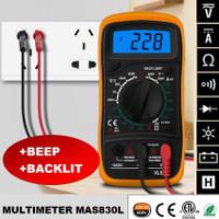 Multitester Multimeter Avometer Digital MAS830L DT-830L Backlit LCD