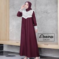 Baju gamis Maxy Wanita Muslim Elena Dress Toyobo Royal Lace Terbaru HQ