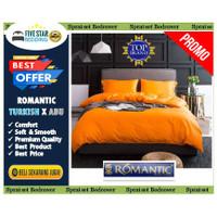 Sprei dan Bedcover Romantic Warna Abu tua x orange
