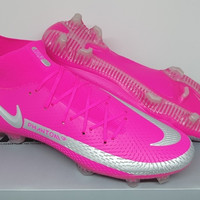 Sepatu Bola Nike Phantom GT Elite Dinamic Fit Pink Blast Silver FG