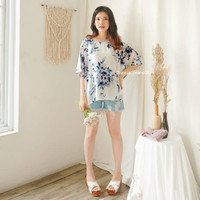 Blouse Rayon Premium Baju Atasan Wanita S-XL WFH - Ayumi Floral Blouse