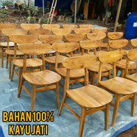 Kursi Cafe Bahan Kayu Jati Model TERLARIS & HARGA TERMURAH