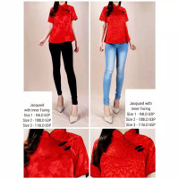 Cheongsam Top Baju Blouse Wanita Imlek Lunar Chinese Shirt 1814