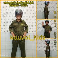 Baju Setelan Anak Profesi Pilot Pesawat Tempur Army