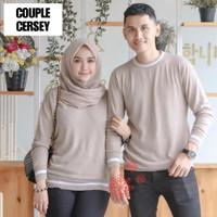 Baju Kaos Lengan Panjang Couple Cersei Polos Murah