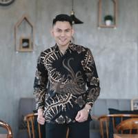 Baju Batik Pria Panjang Furing Katun Halus Batik Merak Jumbo XXXXL