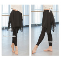 Rok Celana 2in1 Balet Ballet Dance Senam Barre Zumba Olahraga Casual