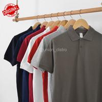 Kaos berkerah polos bahan cvc premium bandung / Kaos polo murah - Charcoal, S