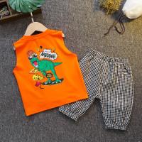 Setelan kaos singlet anak TB02 baju anak dinosaurus