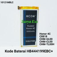 Baterai Huawei Honor 4C Honor4C C8818 HB444199EBC+ Double IC ORIGINAL