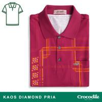 Crocodile DIAMOND 1671 Red - Baju Kaos Kerah Pria Men Polo Original