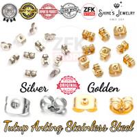 Tutup Anting Earring Stopper Titanium Stainless Steel