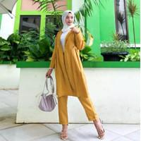 Setelan Baju Kerja Wanita One Set Cardi Blazer Muslimah Amunzen