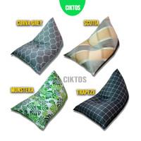 jual bean bag ciktos triangle sudah termasuk isi variant motif
