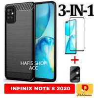 Soft Case Infinix Note 8 Free Tempered Glass Warna+Tg Camera