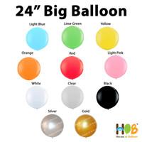 Balon Jumbo Latex Lateks 24 Inch Import Tebal