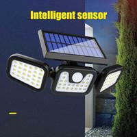 Lampu Taman Tenaga Surya Solar Cell Sensor Gerak PIR Outdoor 74 LED