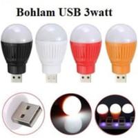 Lampu LED bohlam USB 3 watt