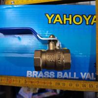 ball valve / stop kran tongkat kuningan yahoya 3/4