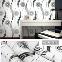 Wallpaper dinding garis gelombang