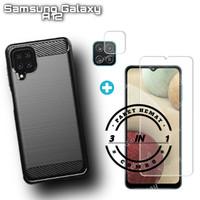 Case Samsung Galaxy A12 Casing PROMO 3in1 Pelindung Layar dan Kamera