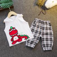 Setelan kaos singlet anak TB01 baju anak dinosaurus