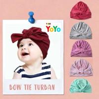 Turban Bayi / Pita Bayi pompom lucu / Bando Bandana Bayi korea