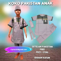 setelan baju koko pakistan turki anak lengan pendek ukuran 1-12thn
