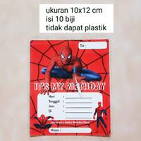 kartu undangan ulang tahun happy birthday hbd anak karakter spiderman