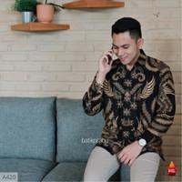 Baju batik pria kemeja batik pria cowok lengan panjang pekalongan G80 - S