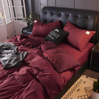 BEDCOVER SET MOTIF POLOS MAROON SIZE 90x200 - 200x200