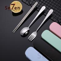 Stainless Sendok Garpu Sumpit set Sendok Makan Set Spoon Travel Set