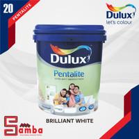 DULUX PENTALITE BRILLIANT WHITE 20 LTR / CAT TEMBOK INTERIOR