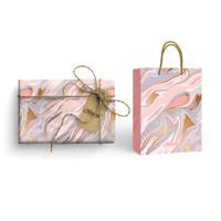 Paket Kertas Kado & Paper Bag Harvest Gift Set - Sugar Pop Marble