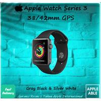 Apple Watch Series 3 42MM GPS Alum W/ Black / White Sport Band BNIB