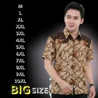 Baju Batik Pria Big Size Jumbo Kemeja Batik Lengan Pendek SENO SAKTI