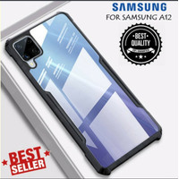 Case Samsung Galaxy A12 HardCase Shockproof Clear Cover Transparant