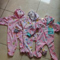 LIBBY Sleepsuit TOPI Tutup Kaki 3pcs NB BATIK SERIES GIRLS / Baju Bayi