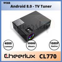 CHEERLUX CL770 Android TV TUNER Projector 1080P Full HD - 4000 Lumens