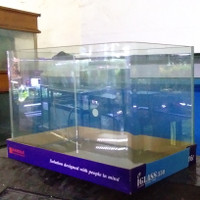 Aquarium bending kandila i-glass 35cm