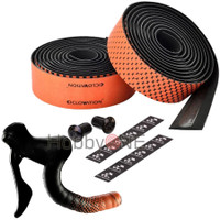 CICLOVATION Bar Tape Leather Touch - Fusion Series Black Orange