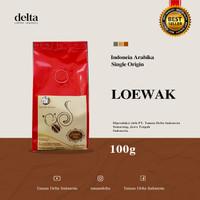 Kopi Arabica Luwak / Loewak Biji Sangrai 100gr - biji