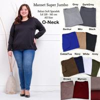 Manset Jumbo Baju Atasan Wanita Lengan Panjang Bigsize